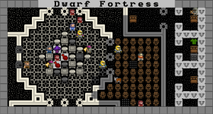 Dwarf Fortress with a Graphical Tilset.